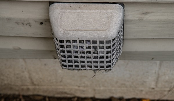 dryer vent on your home must be cleaned because it is a fire hazard